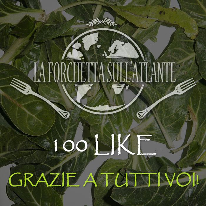 Grazie per i primi 100 like sulla pagina facebook