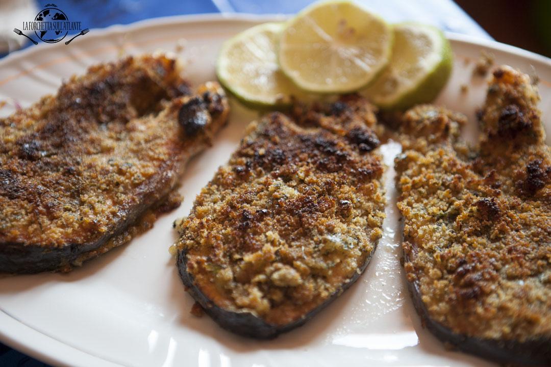 Salmone in crosta di erbette