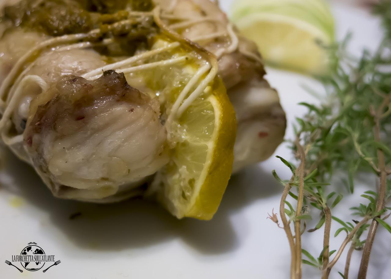 Arrosto di rana pescatrice al limone