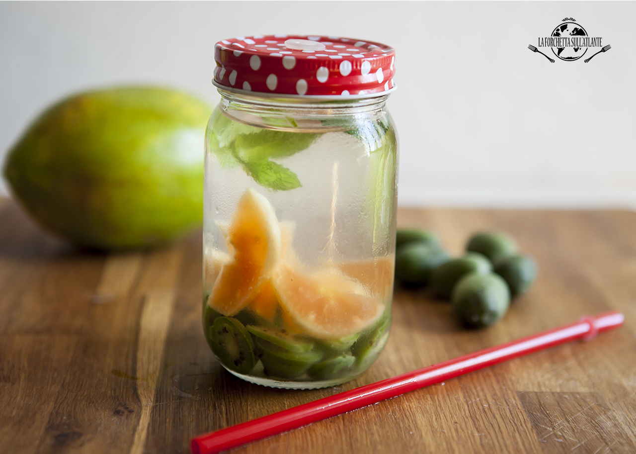 Acqua aromatizzata: NERGI®, papaya e menta