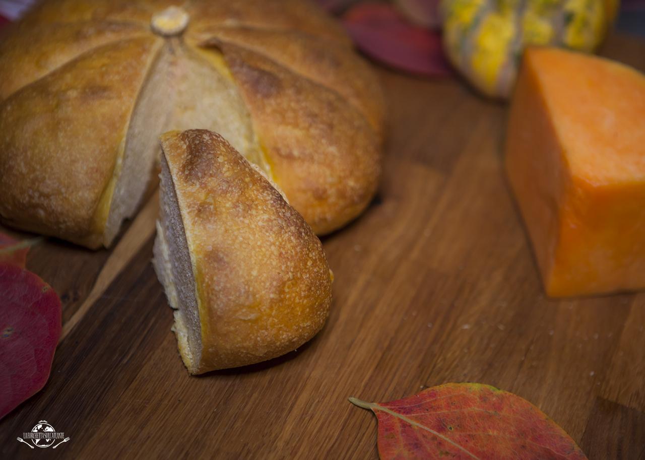 Pane alla zucca con l'impasto di Bonci