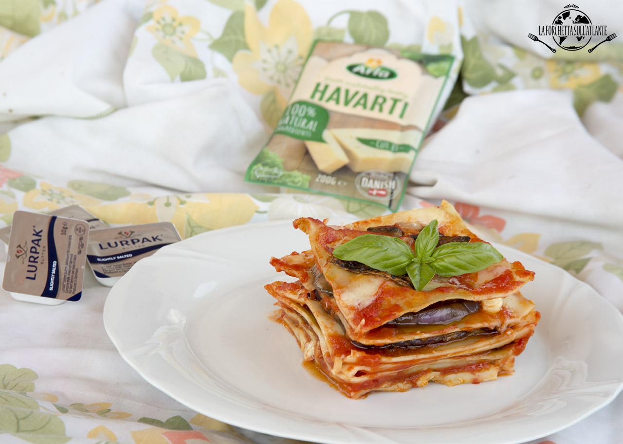 Lasagne con melanzane e formaggio Havarti