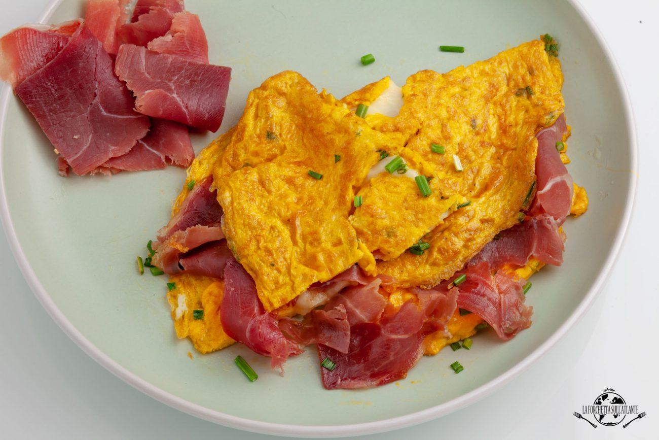 Omelette morbida al Prosciutto di Modena DOP